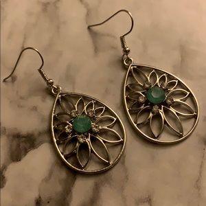 Women's dangle earrings silver tone